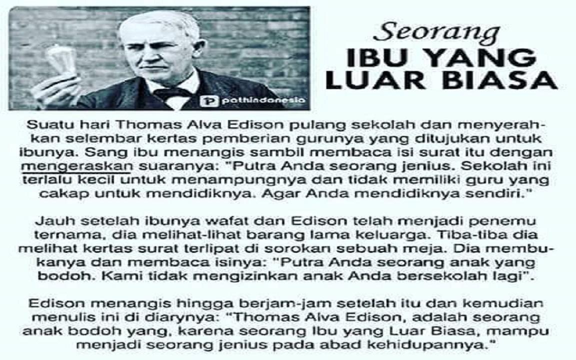 Tommy Yang Bodoh (Thomas Alva Edison)