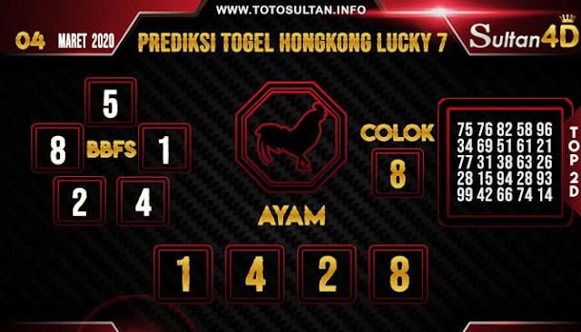 PREDIKSI TOGEL HONGKONG LUCKY 7 SULTAN4D 04 MARET