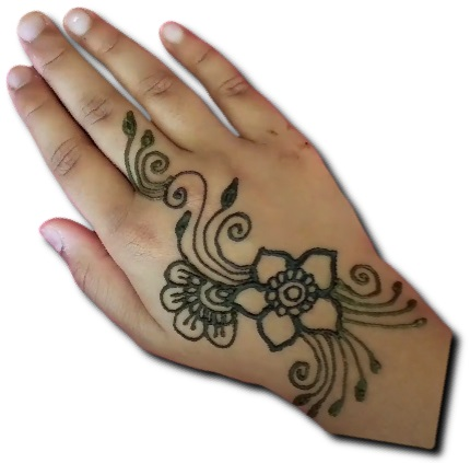 Simplest Mehndi Design for Kids