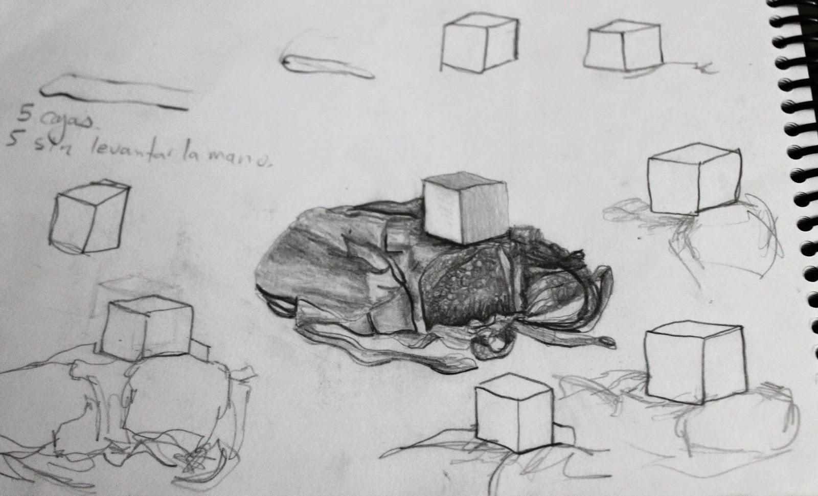 Dibujos En Libretas Ii: Cajas, Descubriendo La Perspectiva