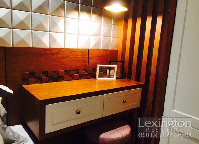 dự án lexington cho thuê căn hộ 1 phòng ngủ - kệ tủ