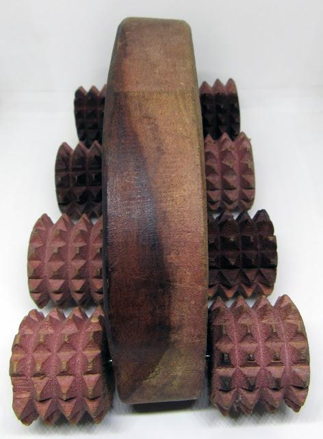 Natural wooden body massager or roller