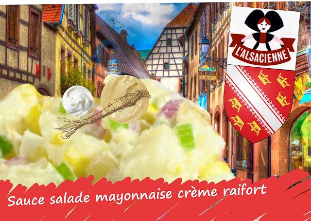 sauce salade mayonnaise, crème, raifort