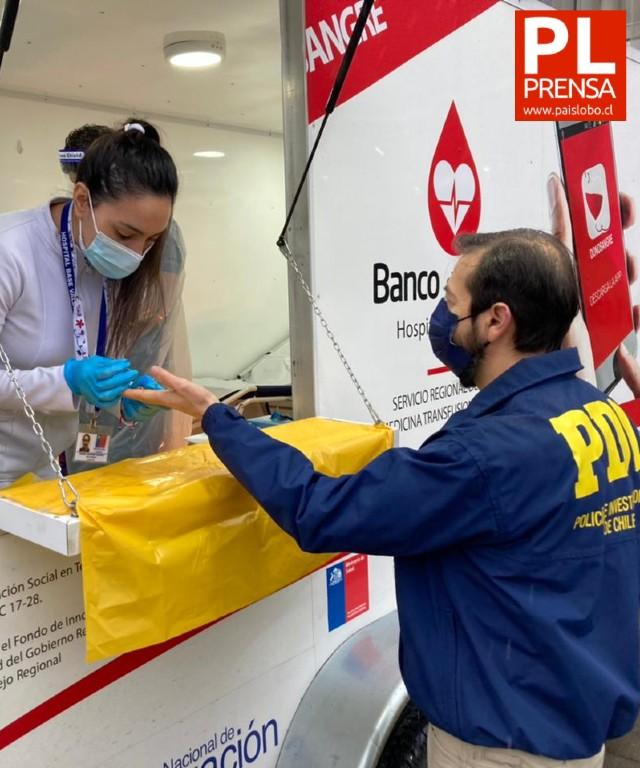 PDI realiza donación de sangre en Valdivia