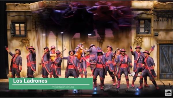 """Presentación con Letra Comparsa """"Los Ladrones"""" de Jc Aragón Becerra (2014)"""