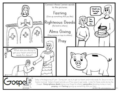 lenten coloring pages catholic - catholic kids february 2016 catholic kids bulletin