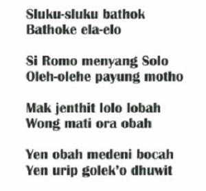 Lirik Sluku-Sluku Bathok