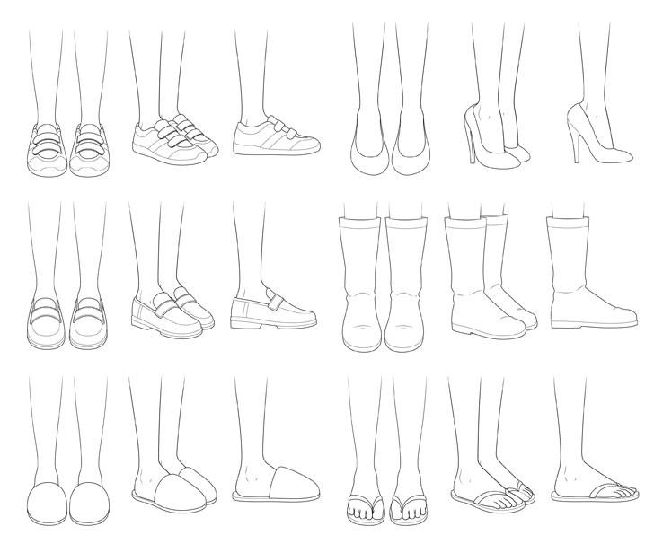 Gambar sepatu anime