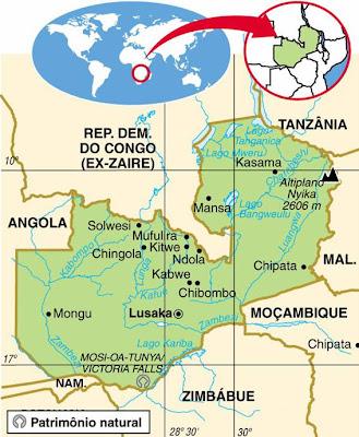 ZÂMBIA, HISTÓRIA E GEOGRAFIA DE ZÂMBIA