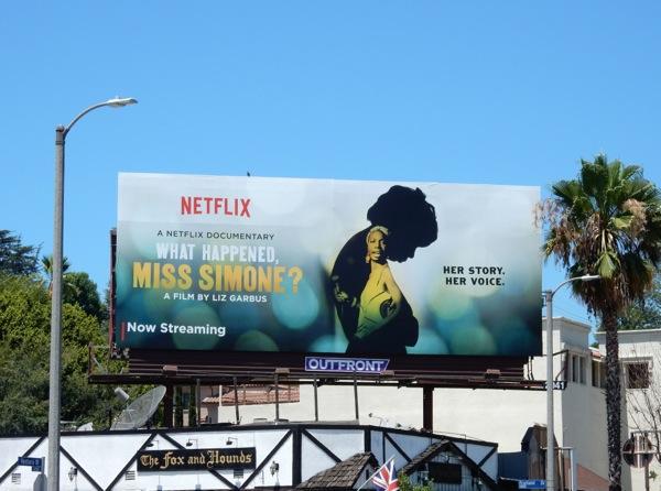 What Happened Miss Simone Netflix documentary film billboard
