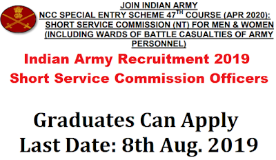 Indian Army NCC Entry Scheme 2019