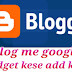 Blog me google+ widget add kese kare