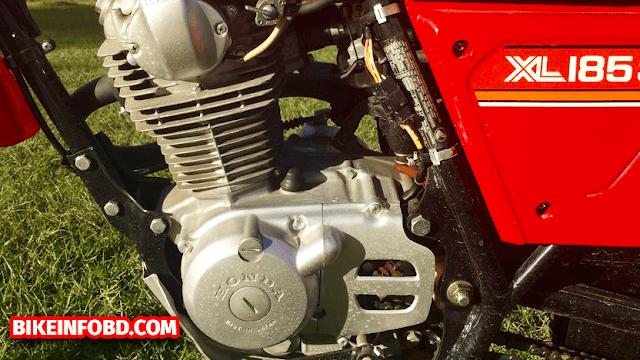 Honda XL185 Engine Left Side Picture