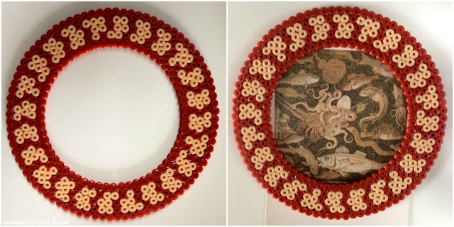 Hama bead Roman mosaic border designs