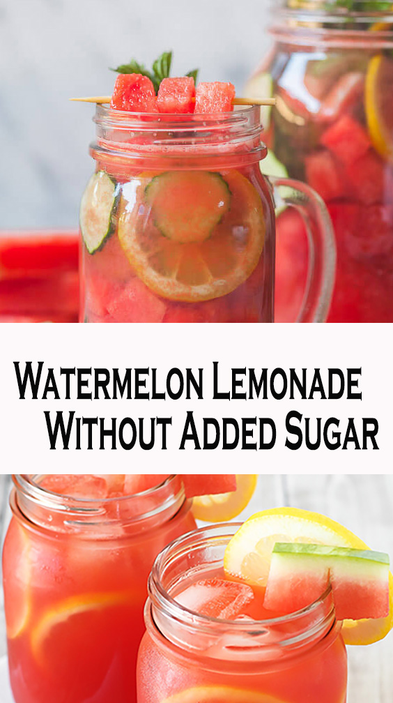 Watermelon Lemonade Without Added Sugar