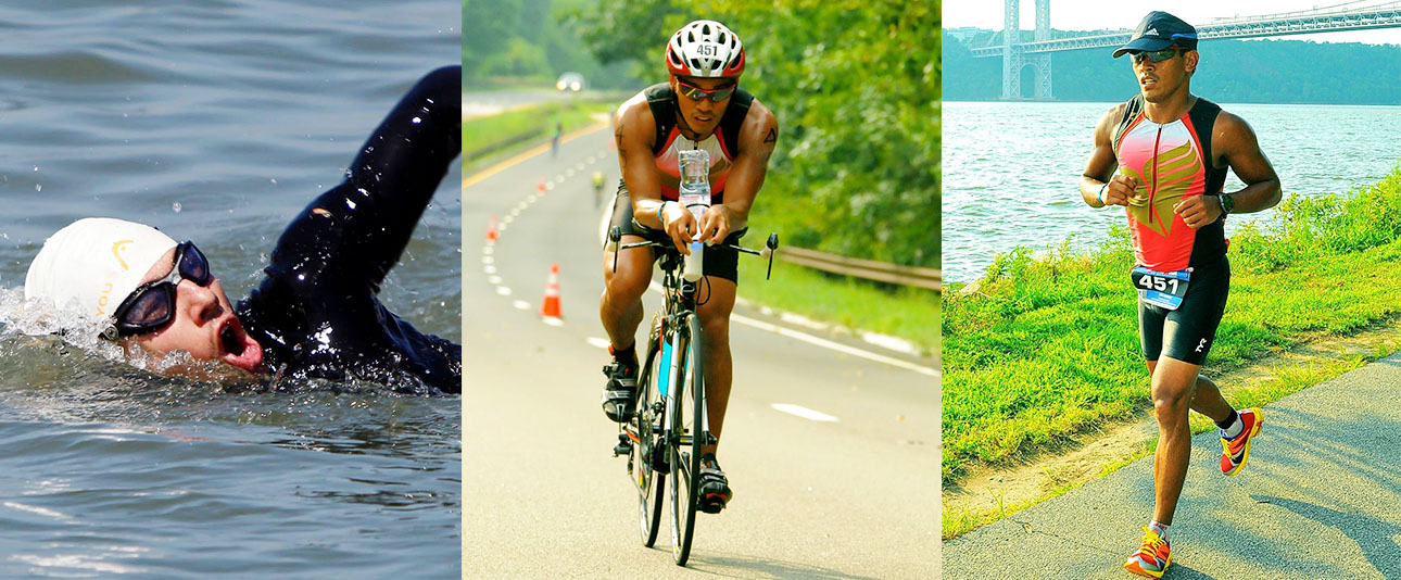 Swimming and cycling
