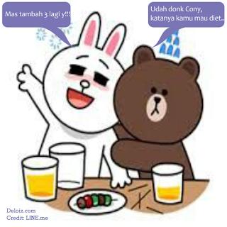 DP BBM Kata Kata Cony dan Brown