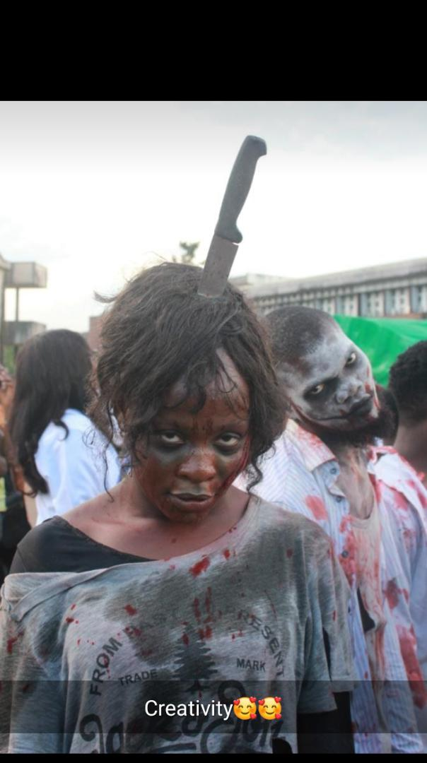 Uniben Csc Students Zombified In Their Final Year Costume (See Photos)