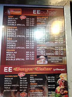 EE Burger Menu