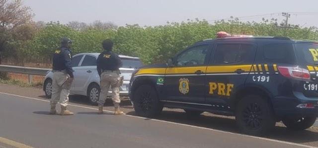 PRF recupera em Paranaíba (MS) veículo furtado em MG