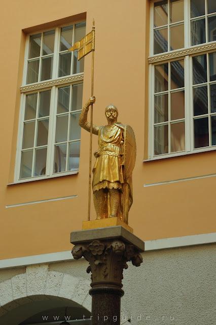 Рига. Золотой рыцарь на Вальню,3