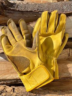 ソロキャンプ 皮手袋