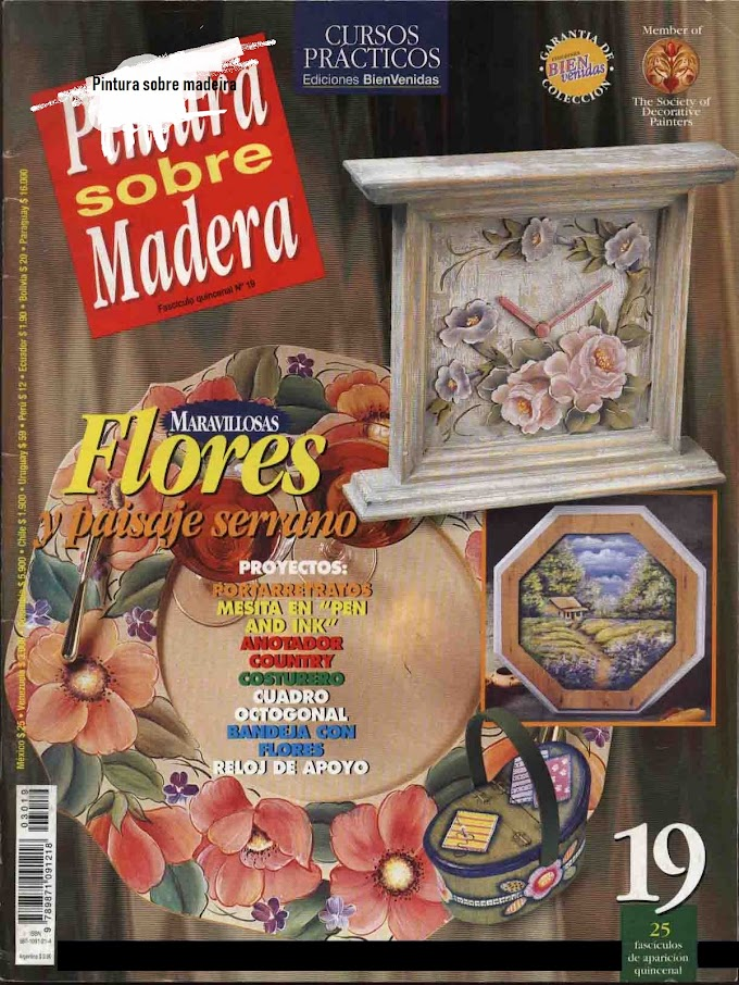 Cursos Práticos Pintura Sobre Madeira N°19