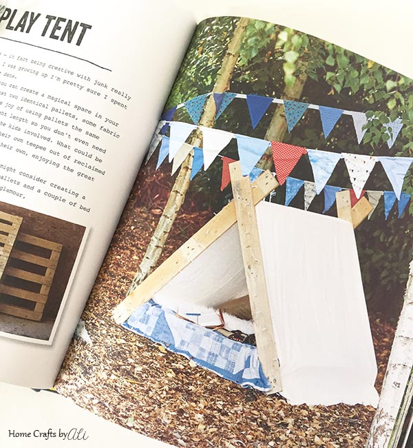 pallet boards play tent for kids