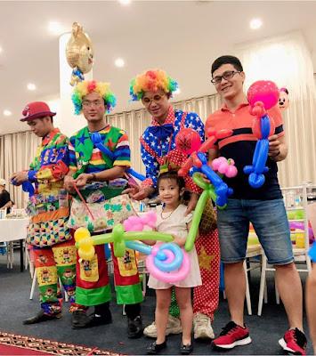 Thuê chú hề sinh nhật tại nhà Long Biên