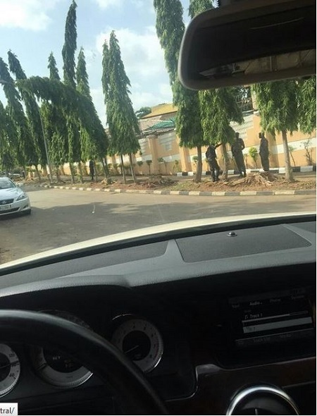 Photos Allegedly Showing EFCC Officials at Fani-Kayode's Asokoro House in Abuja