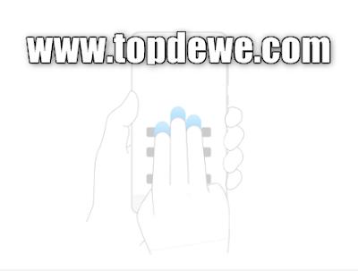 Cara screenshot hp xiaomi dengan 3 jari