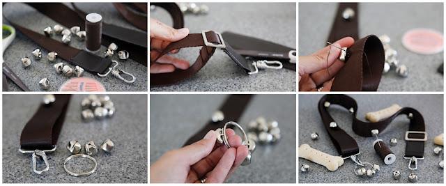 Step-by-step making DIY dog doorbells