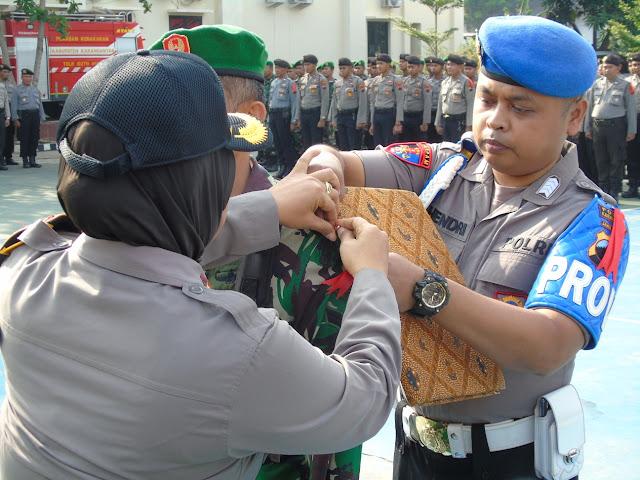 KodimKaranganyar - Antisipasi Perayaan Natal dan Tahun Baru 2020 Polres Karanganyar Gelar Pasukan Operasi Lilin Candi 2019
