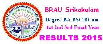 DR BRAU Srikakulam Degree Results 2016