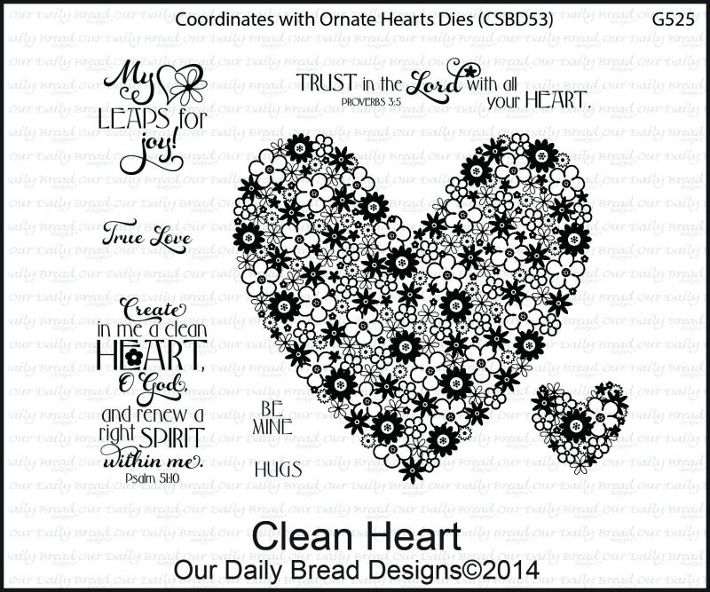 Stamps - Our Daily Bread Designs Clean Heart