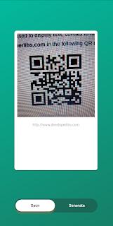Flutter QR code scanner demo app