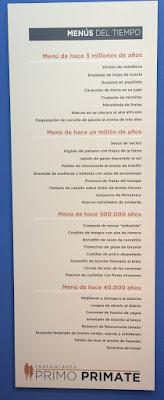 Menú prehistórico de Atapuerca