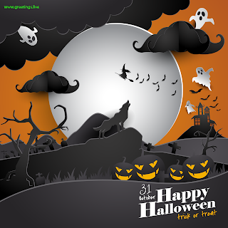 Halloween Day Image 2019, Happy Halloween Tick or Treat 31 October Greetings.