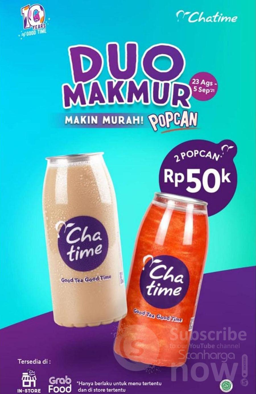 CHATIME DUO MAKMUR Promo 2 Large Cup cuma 50K 2