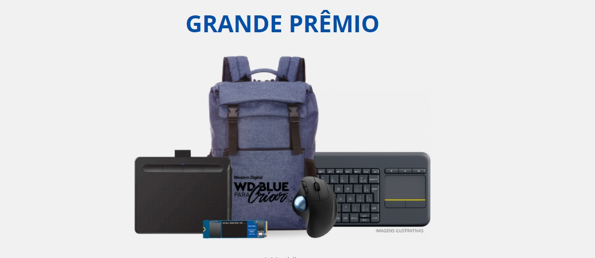 Participar Concurso WD Blue Para Criar - Kit de Produtos
