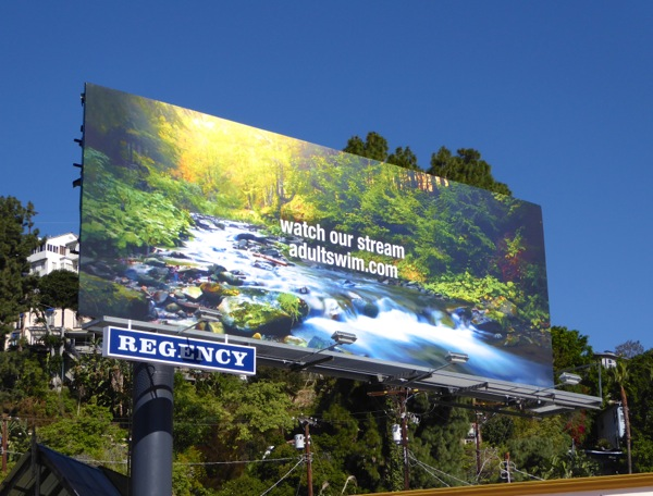 Watch our stream Adult Swim website billboard