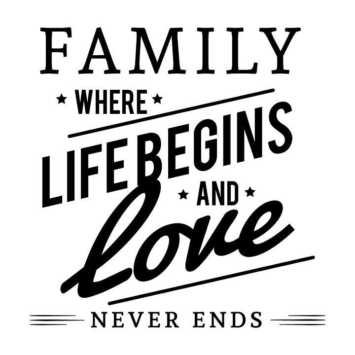 Family Where Life Begins Love Never Ends Family Wall Decal ...  |Family Love Life