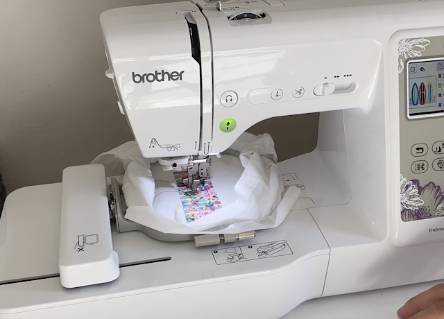 Embroidery, Applique, Beginners Sewing, First Machine Applique embroidery Project, HTV