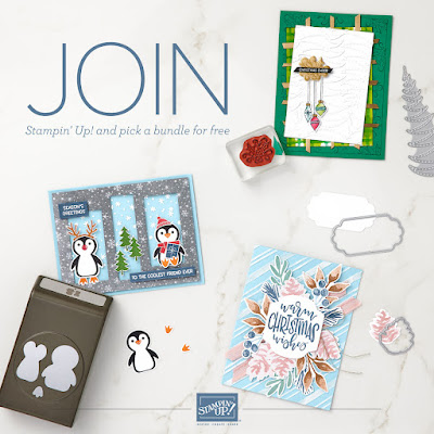 Cards made with punches and dies from Stampin' Up! along with a special offer to join Stampin' Up! as a Demonstrator and select a Free Bundle from the July-December 2021 Mini Catalog as part of your starter kit