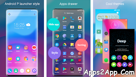 Super P Launcher for Android P 9.0 launcher, theme APK v6.2 [Premium] [Latest]