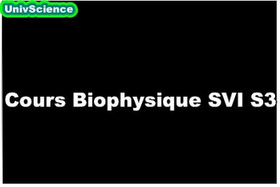 Cours Biophysique SVI S3.