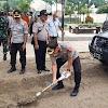 Apel Gabungan TNI Dan Polri Dalam Rangka Pembersihan Parit Pasca Bencana Banjir Seputaran Taman Masassoya Wasior