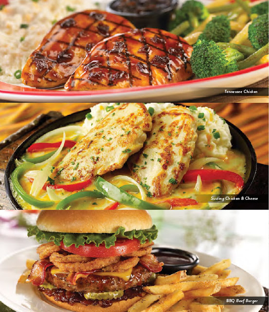 TGI Fridays Lunch Menu Tennessee Chicken