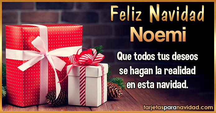 Feliz Navidad Noemi