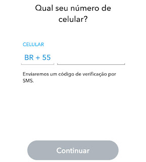 Número do telefone no Snap